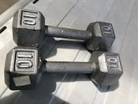 Black and gray fixed weight dumbbells Fairfax, 22033