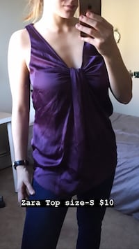 Women's purple sleeveless shirt by Zara Edmonton