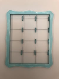 Pier One Photo Display Holder Turquoise Color Wall Art