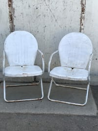 Vintage shell back chairs