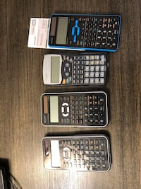 Sharp calculators, all 3 Calgary, T3A 5N7