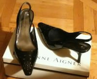 Patent leather slingback shoes size 8