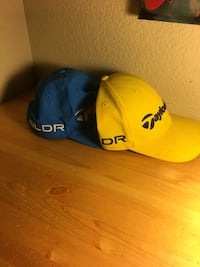 Used Blue and yellow adjustable taylormade golf hat combo for sale in ... ba787247b884