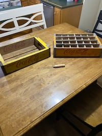 Coke vintage crates and an ice pick
