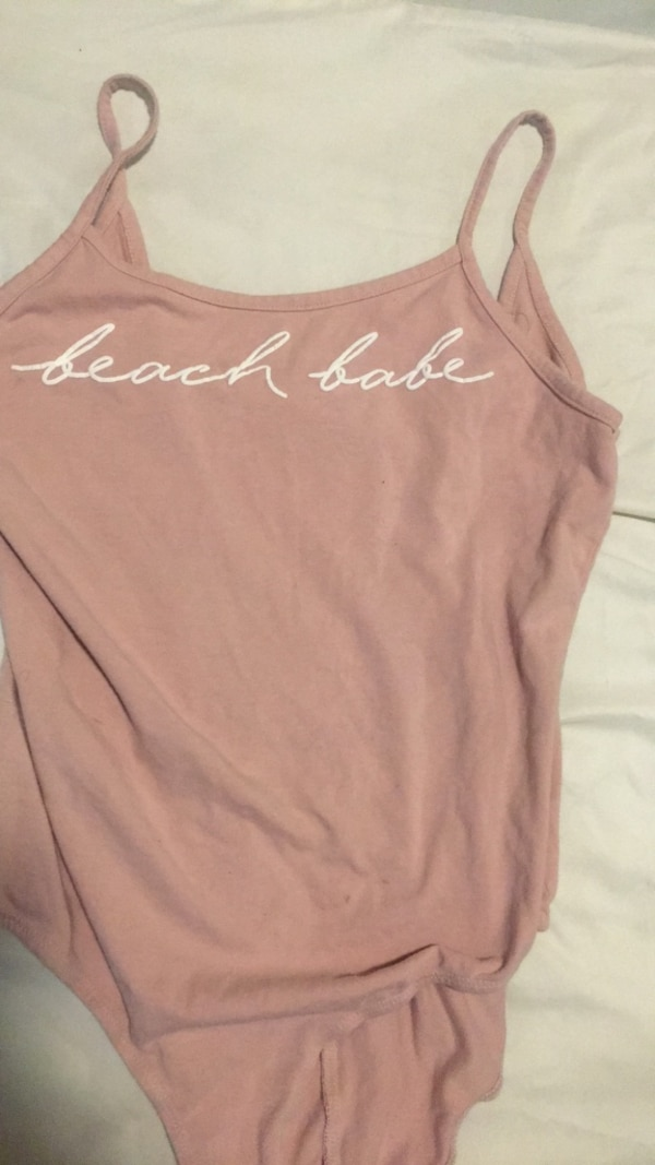women's pink Victoria's Secret tank top