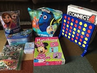 9 Puzzle games, connect4, matching cards game and FREE stuffed animals Houston, 77070
