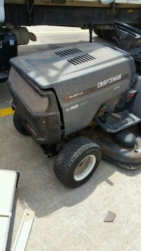 black and gray Craftsman ride on mower Fort Worth, 76104