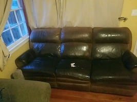 Flex Steel Leather Recliner