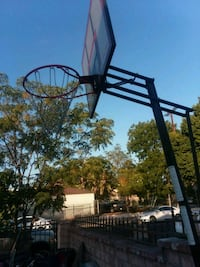 black and white basketball hoop Los Angeles, 91331