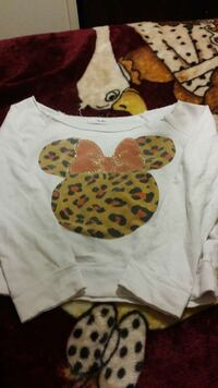 Cheetah Minnie mouse long sleeves crop top Turlock, 95380