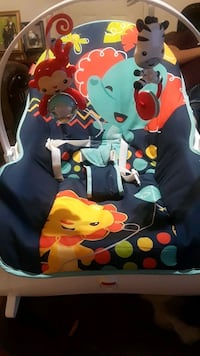 baby's blue and green bouncer Mission, 78572