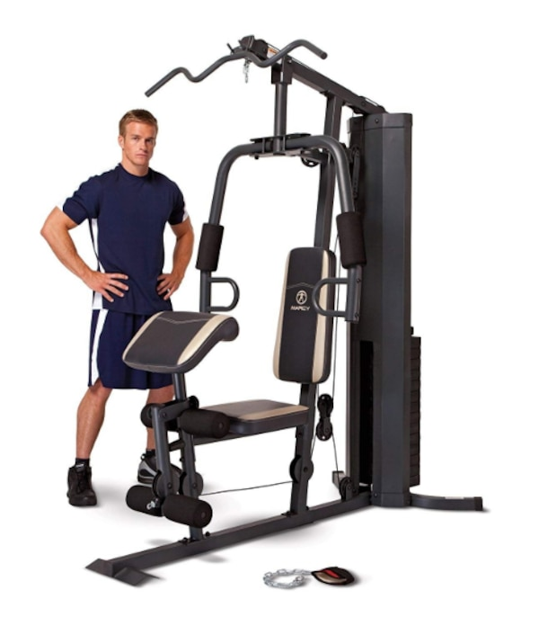 Marcy 150 lb  Stack Weight Home Gym MWM-980 Best Full Tricep Lat Pulldown  Up Dip