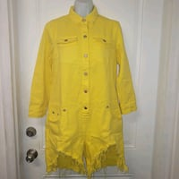 Athina Yellow Jean Jumpsuit 2 Sizes Available Goose Creek, 29445