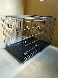 "NEW IN BOX Large 36"" Dog Cage Training Crate Puppy Kennel House Bed"
