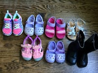 Lot of toddler girl shoes -$ sizes are 8-9-$12 Toronto, M6R 1Z8