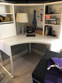 white wooden desk with hutch Falls Church, 22042