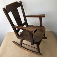 Antique Child's  Rocking Chair Primitive with Arms Toronto