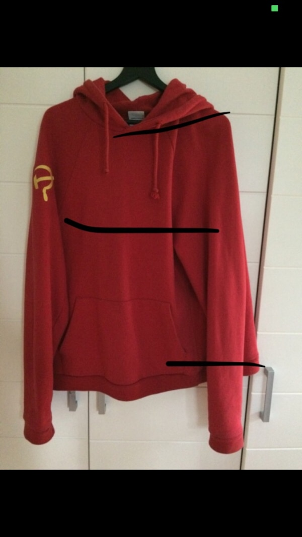 uk availability 73f13 bbf8d roter und schwarzer Nike Pullover Hoodie