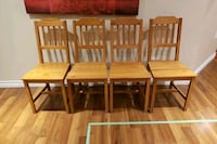 Wood  chairs - antique stain
