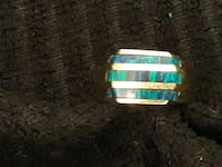 Men's black opal ring Warwick, 02888