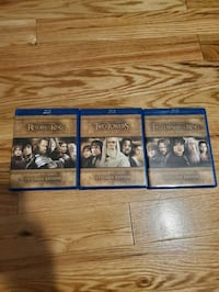 Lord of The Rings Blueray Trilogy