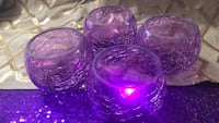 purple and clear glass bowl Laurel, 20724