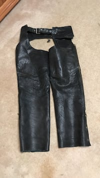 Black leather motorcycle chaps hudson