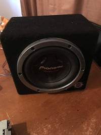 black Pioneer subwoofer with enclosure Edmonton, T6H 2S6