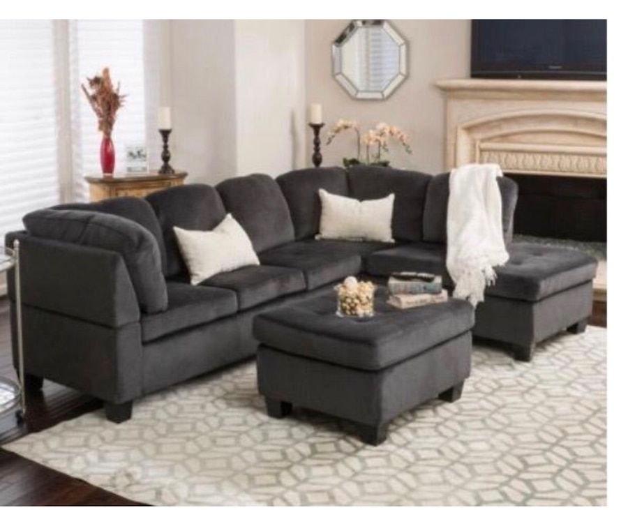 used 3 pc sectional 700 the ottoman is out of box assembled the rh tr letgo com
