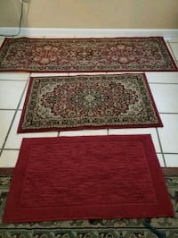 3 rugs entry foyer hall. 5 ft, 3 feet, 2.5 feet Tampa, 33609
