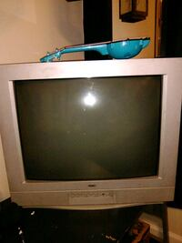 gray CRT television with remote Tonopah, 89049