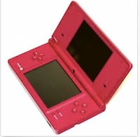 red and black Nintendo DS