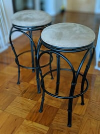 Backless bar stools with suede swivel seats Arlington, 22204