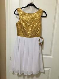 Gold and white dress size 6 Lakeshore, N8M 2X2