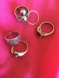 three silver-colored rings Alexandria, 22311