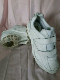 White Leather Walking Shoes