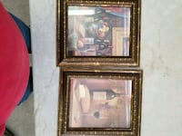 two brown wooden framed paintings Cedar Rapids, 52405