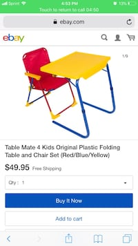 Table and chair 4 kids Pearland, 77581