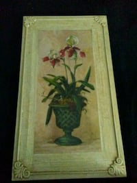 Green and red flower painting Bath, 18014