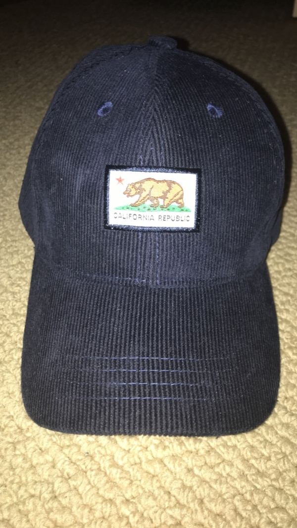 Dark blue California Republic hat