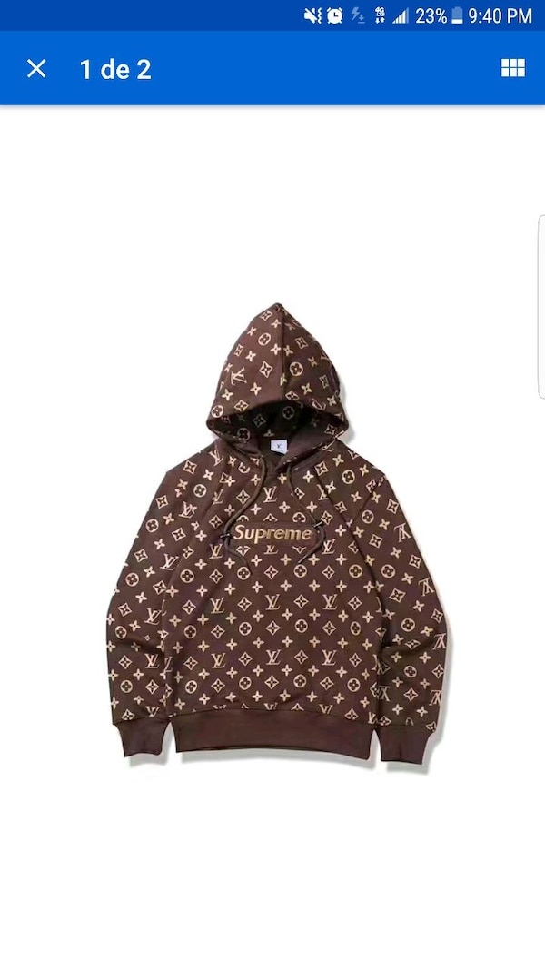 Used Monogram Canvas Louis Vuitton Supreme Pullover Hoo For Sale