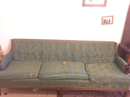 Groovy blue couch