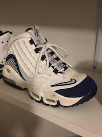 pair of white-and-blue Nike basketball shoes San Francisco