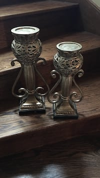 Gray steel candle holders Richmond Hill, L4C 5R7