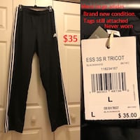 Adidas large mens pants new condition never worn