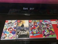 Nintendo Switch Games  Edmonton, T5L 1M8