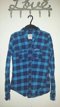 Hollister Flannel/Button Up Top
