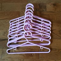 10 Pink Kid's Clothes Hangers