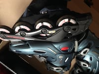 Rollerblades with elbow and wrist guards Toronto