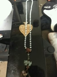 Jade dragon pendent and bead necklace  Vancouver, V6E 4V2